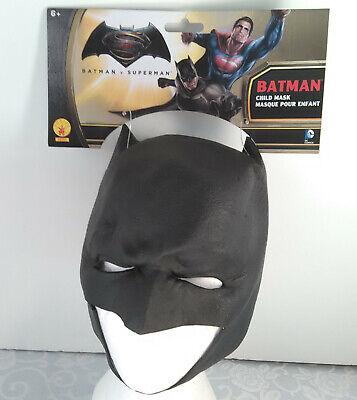 Childs BATMAN 3/4 Mask Boys Kids ages 6+ years Vinyl Dawn of Justice  ](Batman Kids)