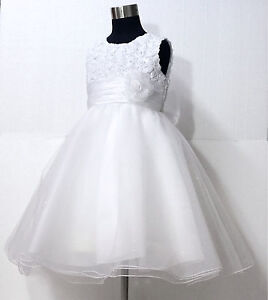 Whites-Christening-Bridal-Pageant-Flower-Girls-Dress-SIZE-2-3-4-5-6-7-8-10Y-W810