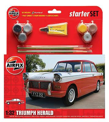 Airfix 1555201 Triumph Herald Starter Set 1:32 Fahrzeug Bausatz Modellbau Auto