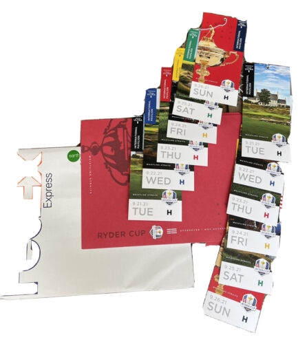SATURDAY ONLY Ryder Cup Tickets 1 2021 International Pavilion - $500.00