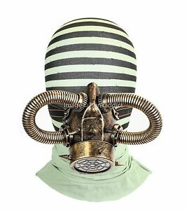 Gas Mask Respirator Antique Gold Punk Goth Cyber Halloween Steampunk party