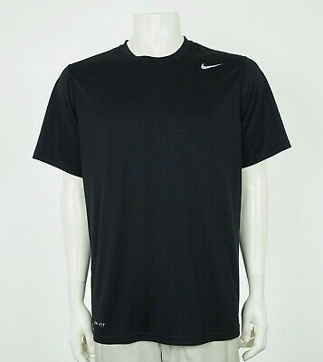 Nike Dri-Fit Legend Black Athletic Training Workout Shirt Mens Large Nike Workout Shirts