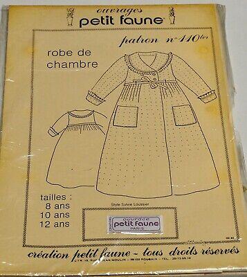 PATRON PETIT FAUNE N° 110ter - ROBE DE CHAMBRE Tailles 8 Ans...