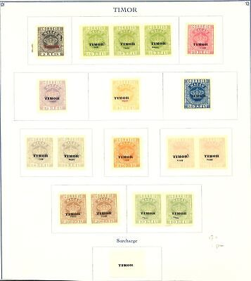 TIMOR PORTUGAL --FOURNIER FORGERY 17 ST + 1 PM -AFFIXED TO PAGE-MARKED FAUX