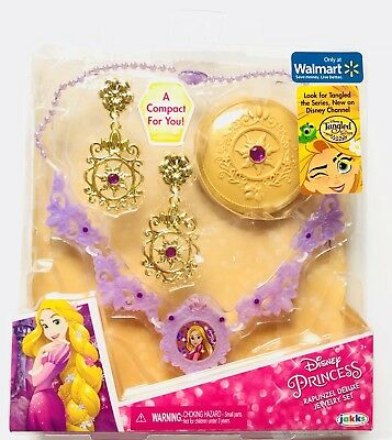 Disney Princess Rapunzel Deluxe Jewelry Set earrings necklace Halloween Dress Up](Halloween Disney Princess Dress Up Games)