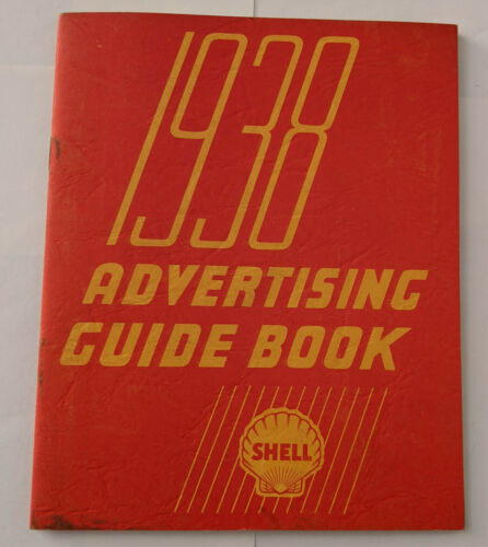 Original 1938 Shell Advertising Guide Book for Gas Station Owners