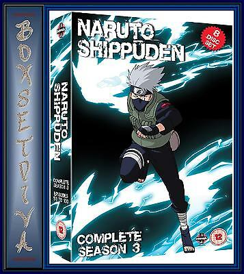 Used, NARUTO SHIPPUDEN - COMPLETE SEASON 3 (EPISODES 101-153)  **BRAND NEW DVD ** for sale  Shipping to Canada