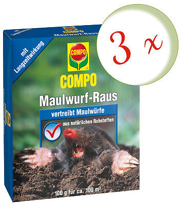 Savings Set: 3 x Compo Maulwurf-Raus, 2 x 50 G