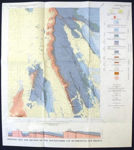 USGS NEW MEXICO GEOLOGY, LINCOLN & SOCORRO, WHITE SANDS 1968 SCARCE REPORT