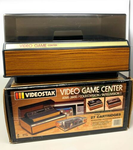 Vintage Atari 2600 Video Game Center Storage (with dust cover &  box) TC-1000