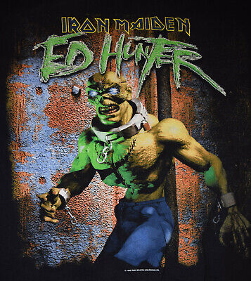 IRON MAIDEN t-shirt ED HUNTER tour L 1999 VINTAGE RARE Dates