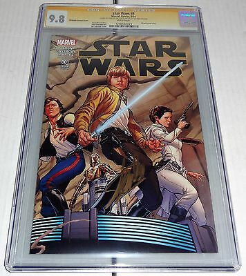 Star Wars #1 1st Day of Issue Release Quesada Sketch 1:100 Variant STAN LEE CGC