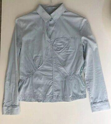 Vintage Hussein Chalayan Cotton Statement Shirt Side Zipper