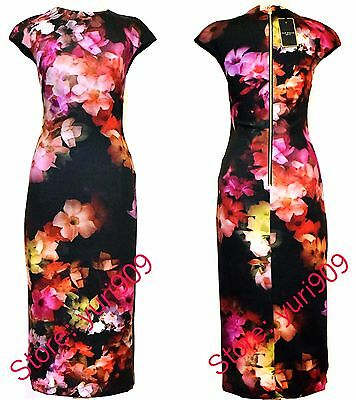 a01fc4bd69ec0 ... Print Body- EAN 5053567734043 product image for Ted Baker London Black  Catina Cascading Floral Midi Dress Size 2