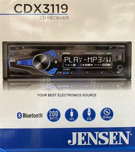 NEW Jensen CDX3119 Single DIN Car Stereo CD Receiver w/ Bluetooth