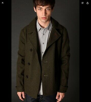 Urban Outftters Mens Admiral BDG Wool Peacoat size M