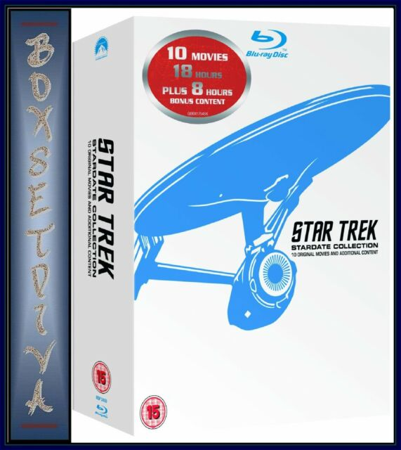 STAR TREK - MOVIES 1 - 10  REMASTERED- STARDATE COLLECTION *BLU-RAY REGION FREE*