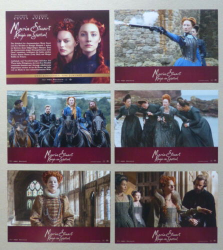 MARY, QUEEN OF SCOTS - Lobby Card Set of 6 - Saoirse Ronan, Margot Robbie