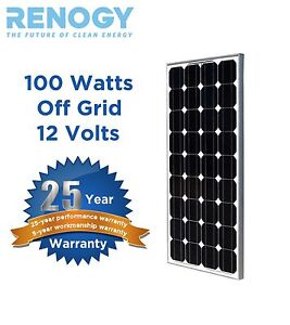 100W Watts 100 Watt Solar Panel Off Grid 12 Volt 12V RV Boat USA Solar Cells