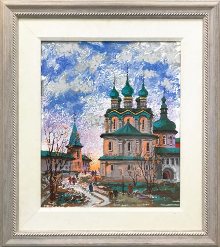 "Anatole Krasnyansky ""autumn"" 2000 | Hand Embellished Canvas | Make An Offer"
