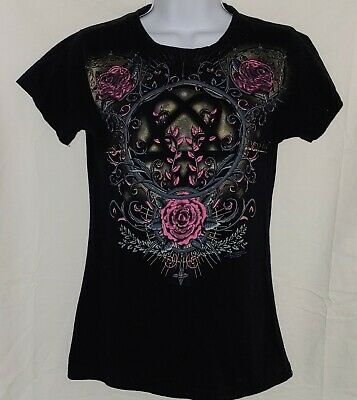 45dfd97449b HIM Band 2007 Heartagram Ladies Black T-Shirt L