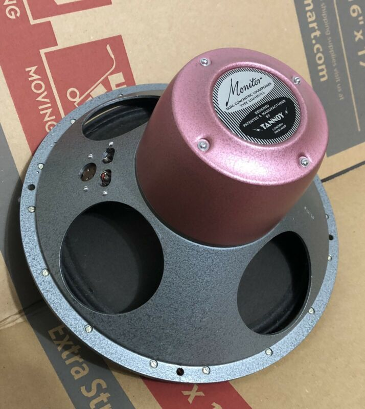 1 Tannoy Red 12 Vintage Speaker Orange Dust Original Cone Tested And Clean