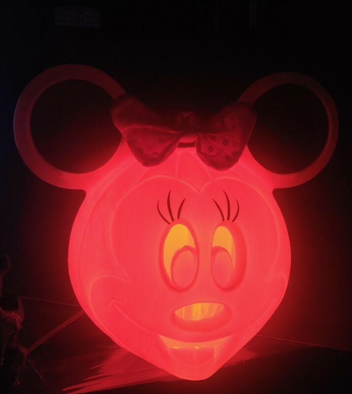MINNIE MOUSE HALLOWEEN BLOW MOLD PLASTIC LIGHT UP PUMPKIN JACK O LANTERN