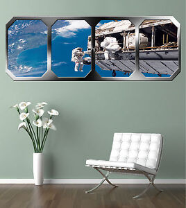 SPACE-WALK-OVER-EARTH-GIANT-WINDOW-VIEW-PRINTED-POSTER