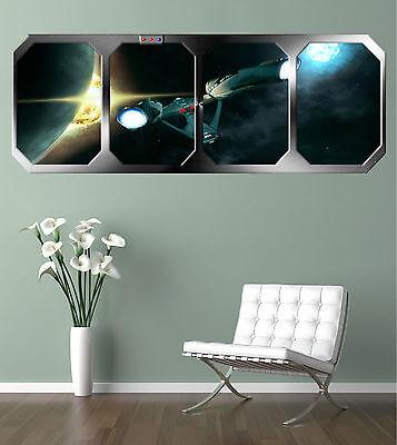 STAR TREK  ENTERPRISE !!!    GIANT WINDOW VIEW   PRINTED POSTER