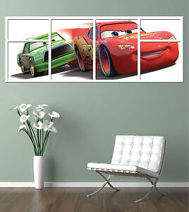 DISNEY   CARS !!!     GIANT WINDOW VIEW   PRINTED POSTER