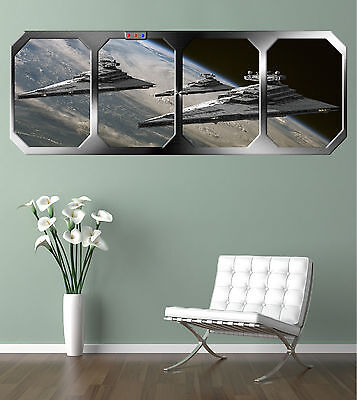 STAR WARS  IMPERIAL STAR DESTROYERS !!!    GIANT WINDOW VIEW   PRINTED POSTER