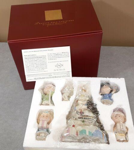 "Mint Vtg LENOX ""Peanuts Pals Christmas"" Classic Edition Figures 6-Piece Set Box"