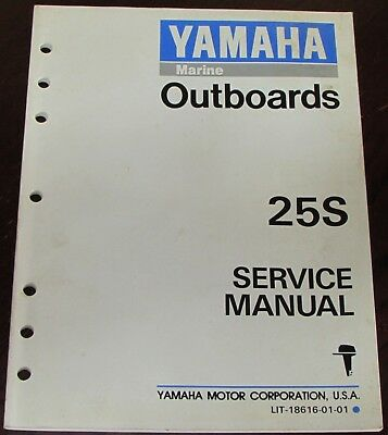 Yamaha Outboards Service Manual for 25S