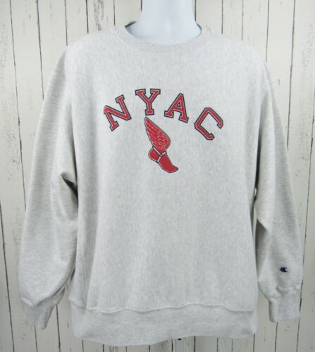Vintage 90s XL Champion Reverse Weave Sweatshirt NYAC New York Athletic Club