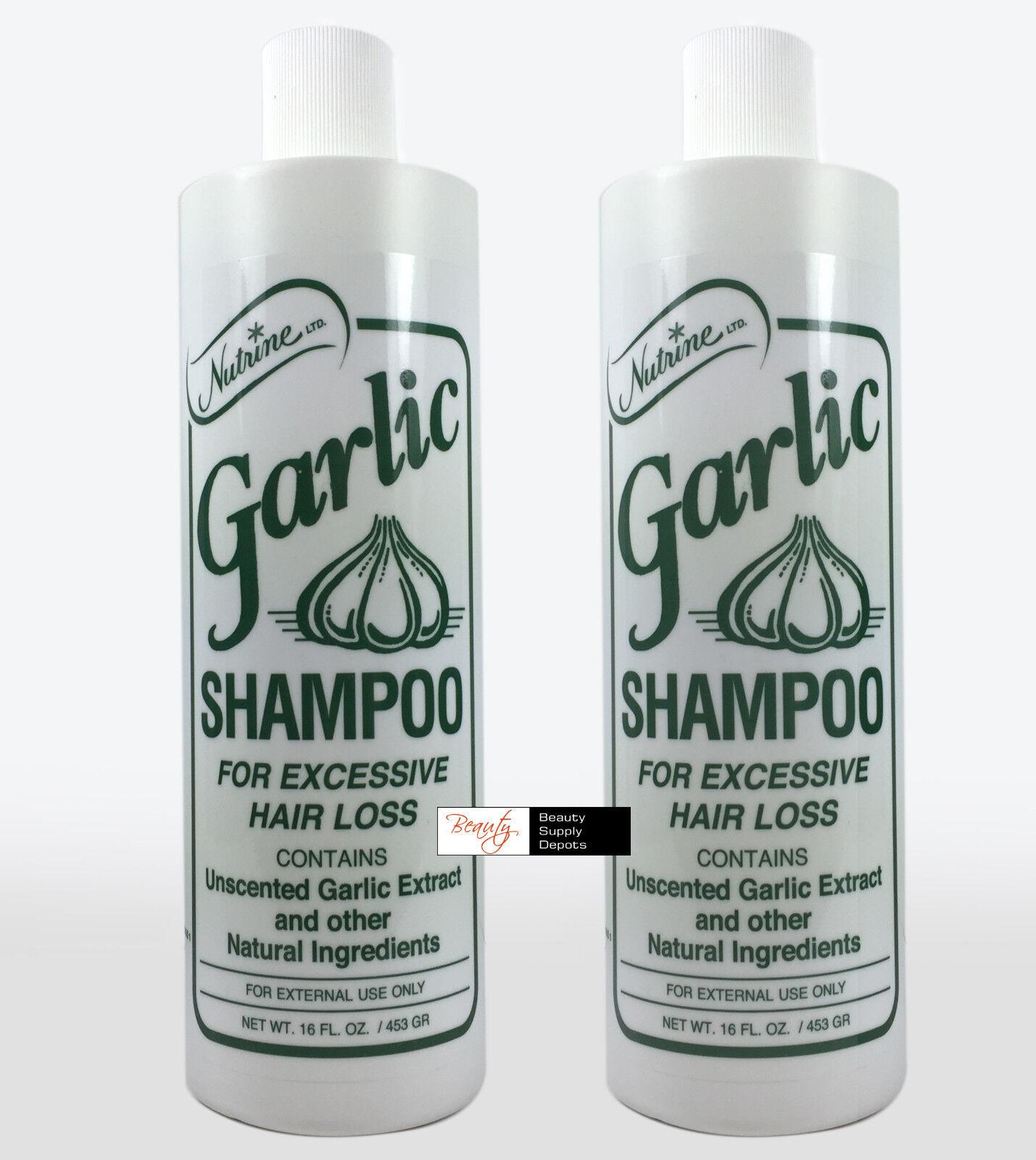 Nutrine Garlic Shampoo for Excessive Hair Loss Unscented 16o