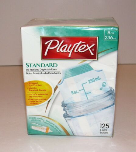 Playtex Standard Pre-Sterilized Disposable Liners 8 Ounce NEW Qty 125