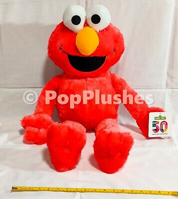 "NEW 28"" Sesame Street Elmo Plush 50th Anniversary Edition Cute Soft Toy Factory"