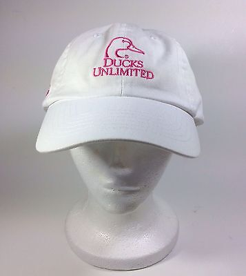 Ducks Unlimited Half Moon Bay 2014 Towne Ford Baseball Style White Pink Hat Cap  ()