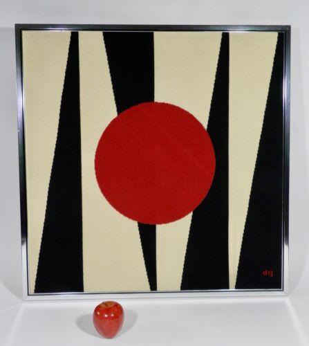 Vintage Mid Century Modern Backgammon Needlepoint