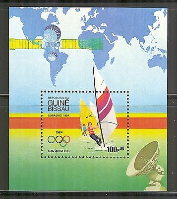 Guinea-Bissau #578, 1984 Windsurfing/Summer Olympic Games in Los Angeles, SS1 NH