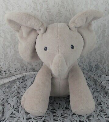"Baby Gund Flappy Elephant Animated Grey Gray 11"" Musical Sings Moves Plush Toy"