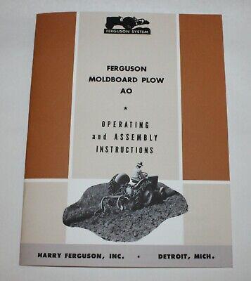 Ferguson Ao Moldboard Plow Operators Manual Ford-ferguson