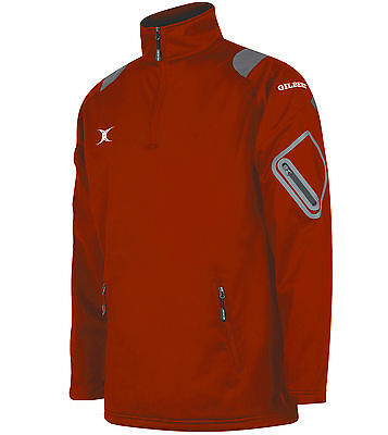 Clearance New Ex- Display Gilbert Rugby Blitz Soft Shell Jacket Red 11- 12 Years