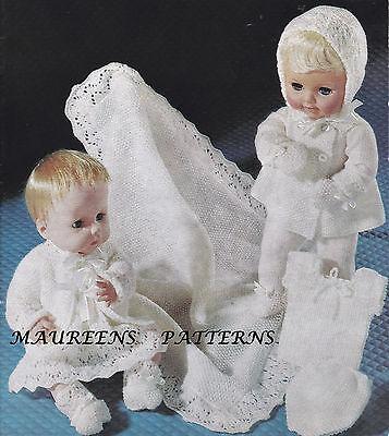 "Knitting Pattern Book Baby Dolls Layette/Shawl 14""-16"" Tiny Tears Baby Born"