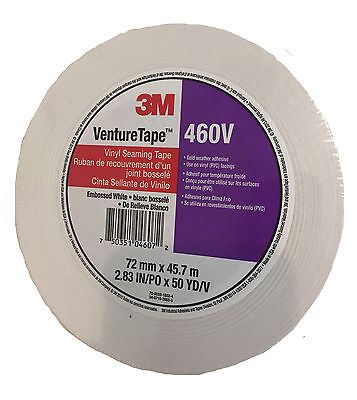 3m Venture Tape 2.83x150 White Vinyl Tape - 460v
