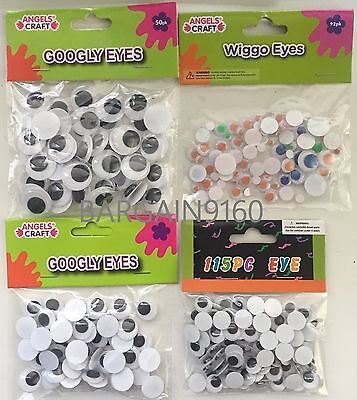 Googly Googly (4 Sizes Wiggle Googly Eyes Glue on Scrapbooking Crafts Toy Access)
