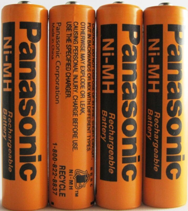 4 Panasonic 1.2V Ni-MH AAA Rechargeable Batteries for Cordless Phones From USA