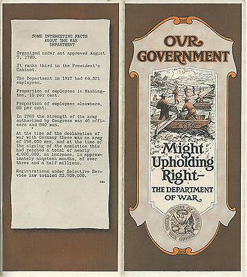 Newark NJ 1921 Brochure Washington Trust Co. Our Government Department of War