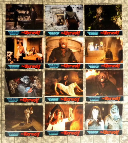 NIGHT OF THE WEREWOLF 12 Lobby Cards compl. LC-SET German ´81 PAUL NASCHY