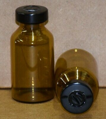 Usp 20 Ml Amber Sterile Vial With Black Center Tear Seal 10 Pack